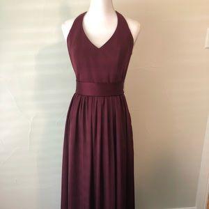Vera Wang Burgundy Dress